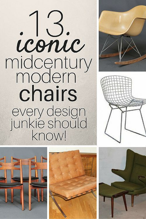 13 Iconic Mid Century Modern Chairs Estate Sale Blog Mid