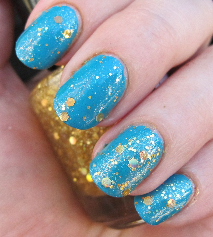 Fistful of Latinum Nail Polish - holographic gold top coat. $8.25 ...