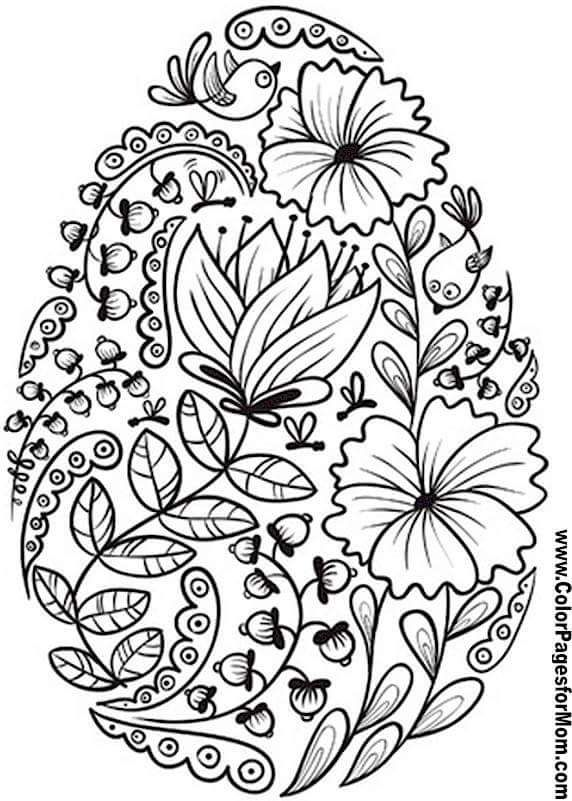 spring coloring pages for adults | Pin na wielkanoc