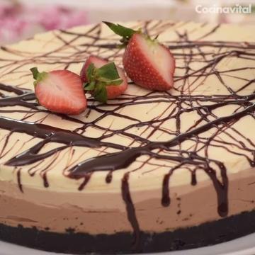 Cheesecake de tres chocolates