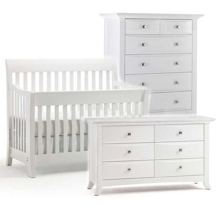 Charmant Bonavita Metro Collection 3 Piece Nursery Set (Classic White) **The Winner!  We Bought This Set.