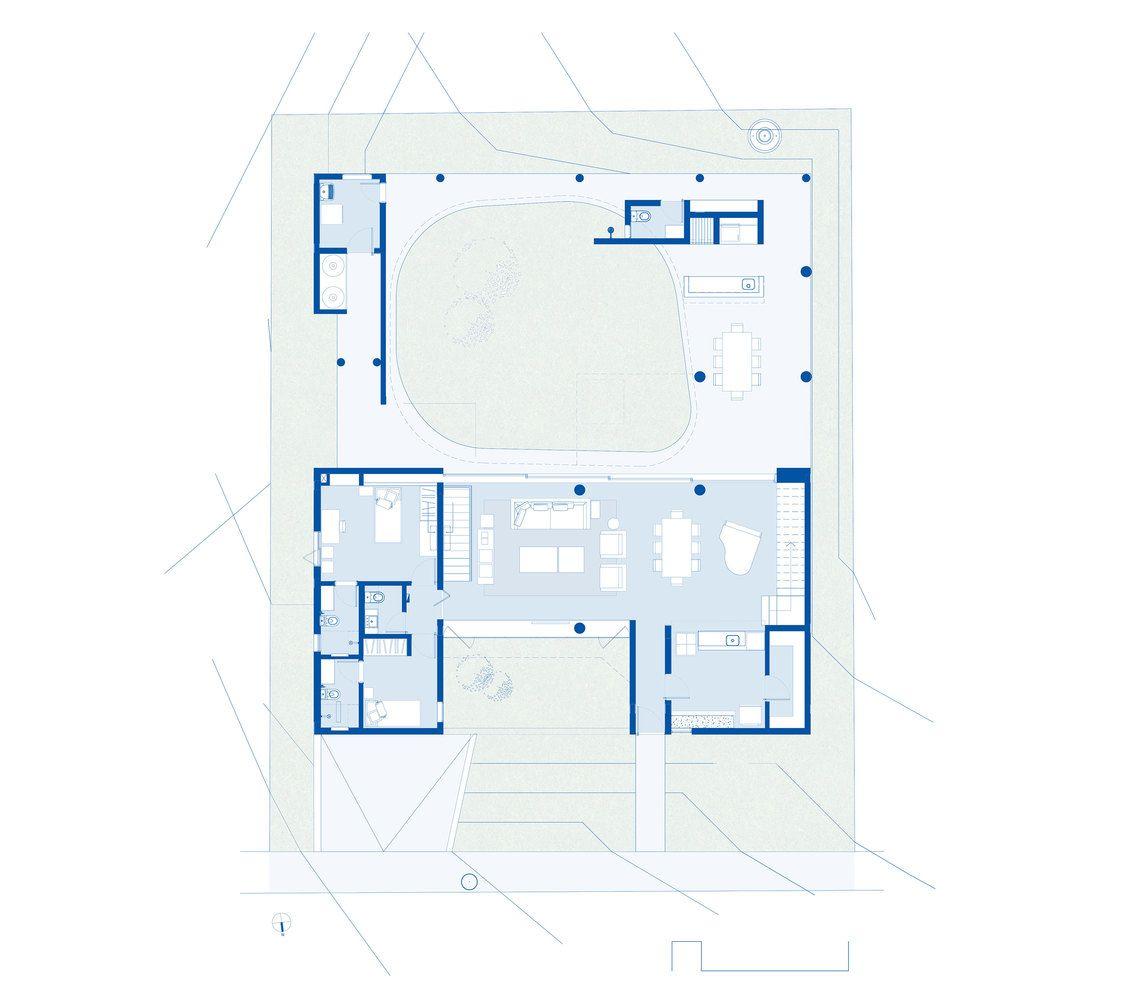 Gallery Of Cauman House Estudio Bra 36 Ground Floor Plan Floor Plans House Plans