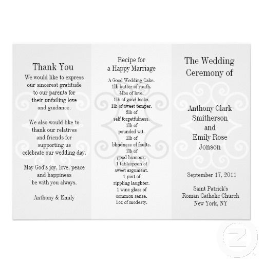 wedding program google search paper design pinterest wedding