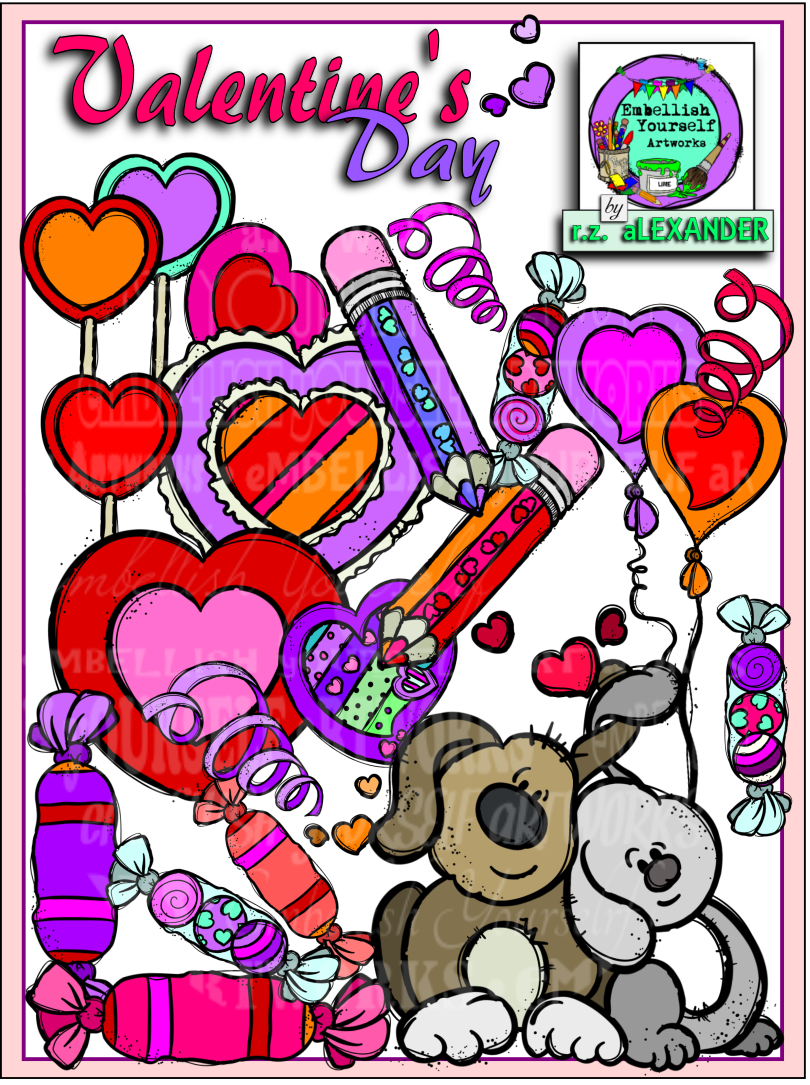 Valentine S Day Clipart 11 Free Elements Included Embellish Yourself Artworks Valentines Day Clipart Clip Art Winter Classroom Activities