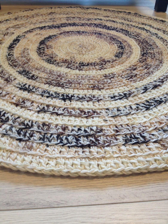 Crochet Rug, Baby Room Decor, Crochet Rugs, Area Rugs, Floor Rugs, Large  Rugs, Handmade Rug, Kids Decor, Nursery Rug, Beige Brown, Order