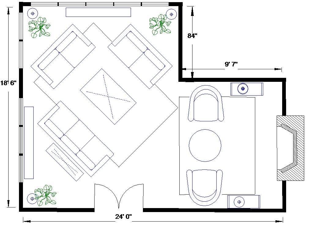 L Shape Living Room Layouts Arrangement christopher lowell furniture placement l-shaped space - Google Search