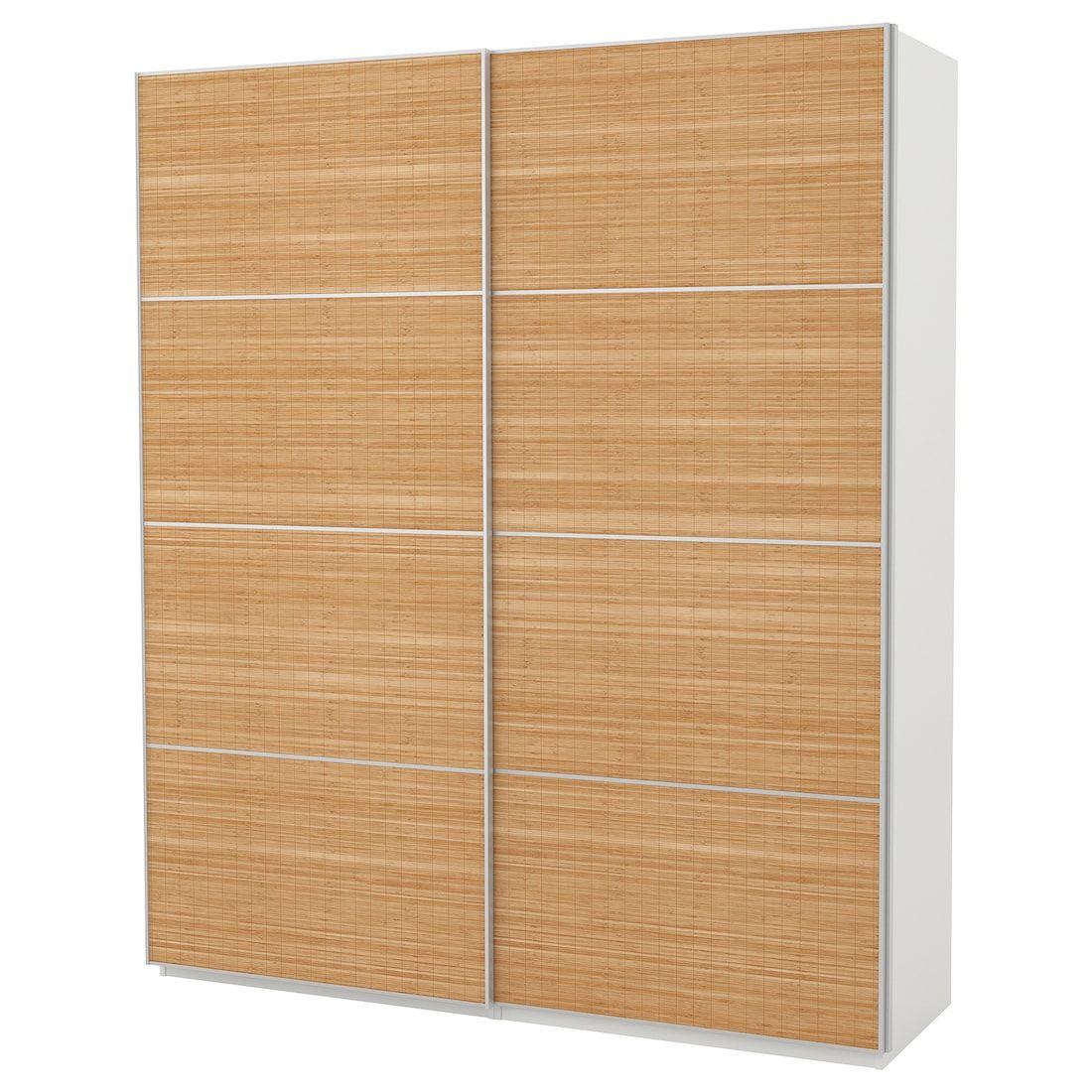 Pax Wardrobe White Fjellhamar Dark Bamboo Ikea Pax Wardrobe Sliding Doors Door Frame