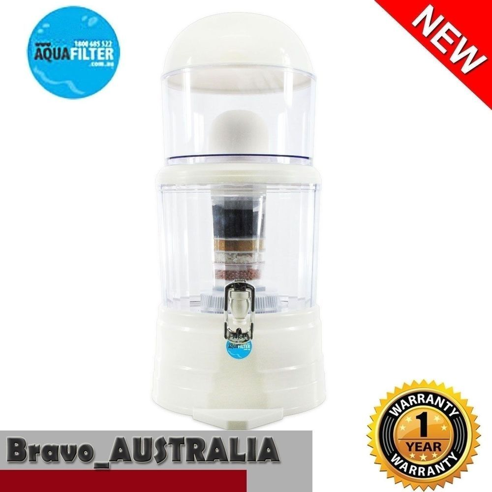 5 Stage Water Filter Top Ceramic Carbon Mineral Dispenser Purify Purifier Bottle