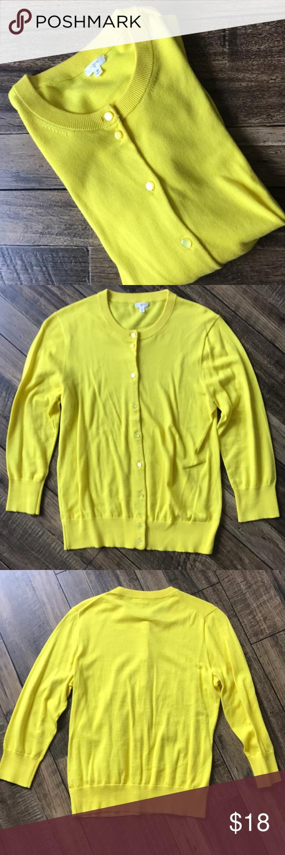 💢FLASH SALE💢J. Crew Yellow Cardigan | Yellow cardigan, Bright ...