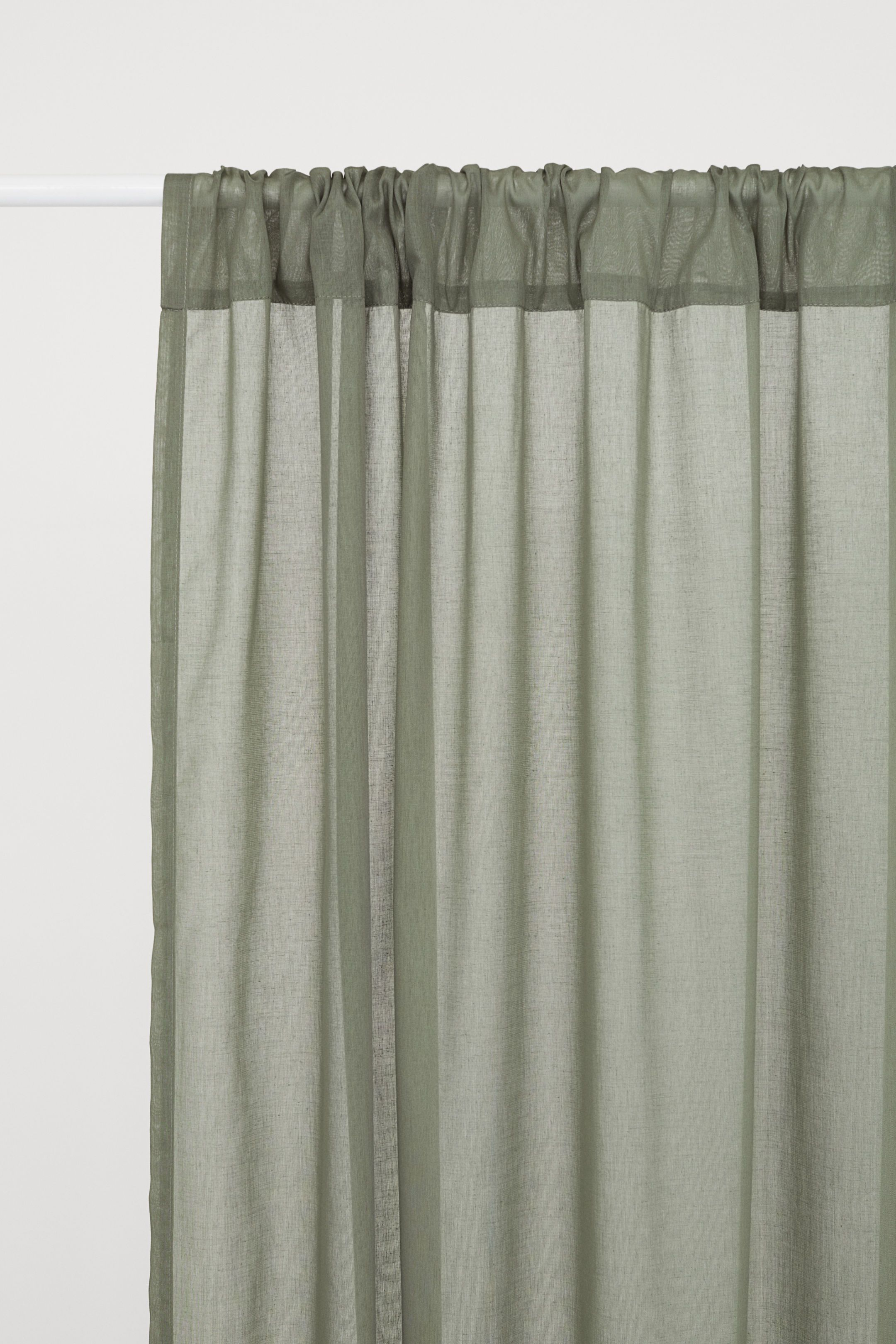 2 Pack Curtain Panels Khaki Green Home All H M Us Panel Curtains Curtains White Paneling