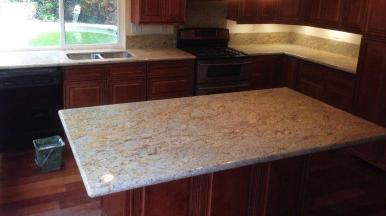 C S Island Millenium Cream Granite Granite Countertops