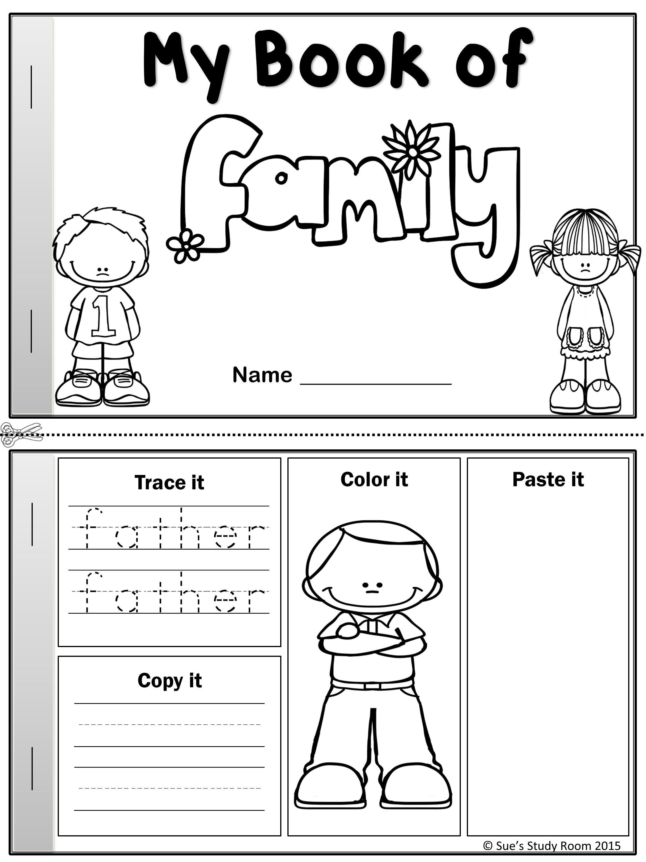 preschool family themed coloring pages - photo#23