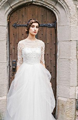 Sareh Nouri Includes Black And Navy Wedding Dresses For Fall 2015