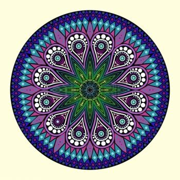 mandala: ornamental round lace pattern, circle background with many details, looks like crocheting handmade lace Illustration