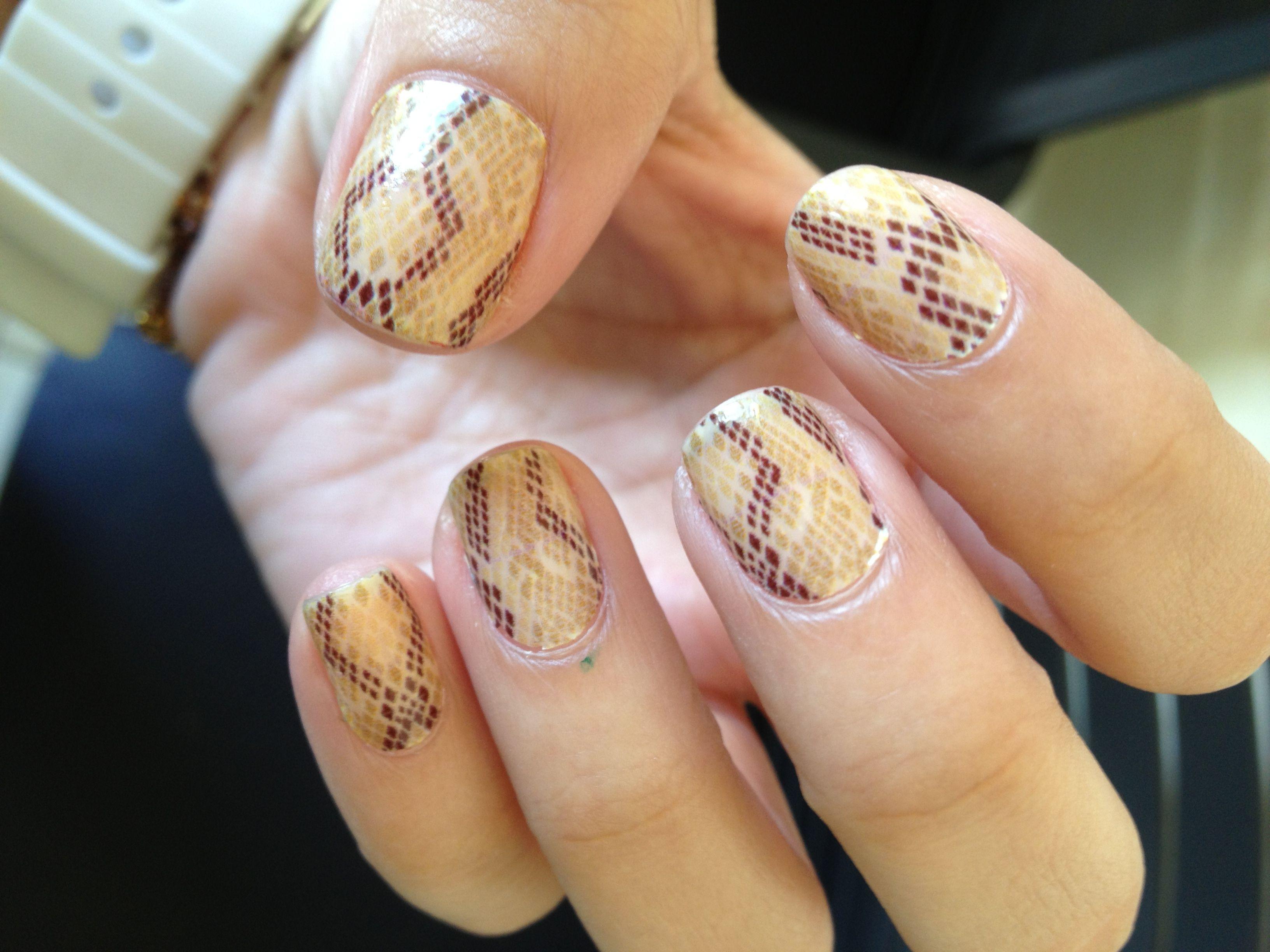 My sticker nail polish by Sally Hansen Salon Effects. Brattlesnake ...
