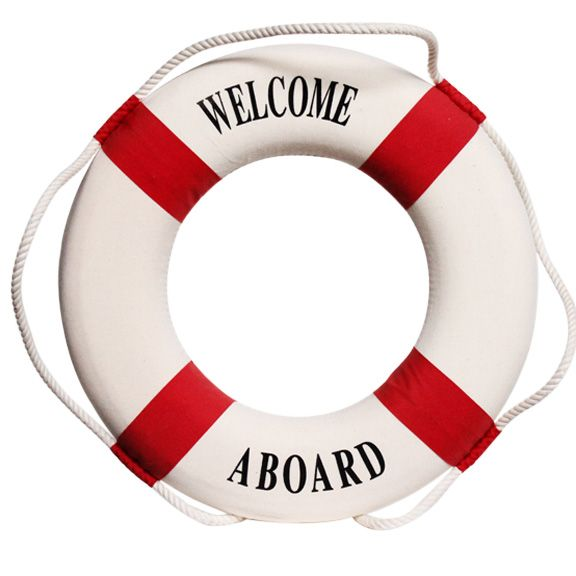153e40f118f1 Welcome Aboard Lifesaver Red