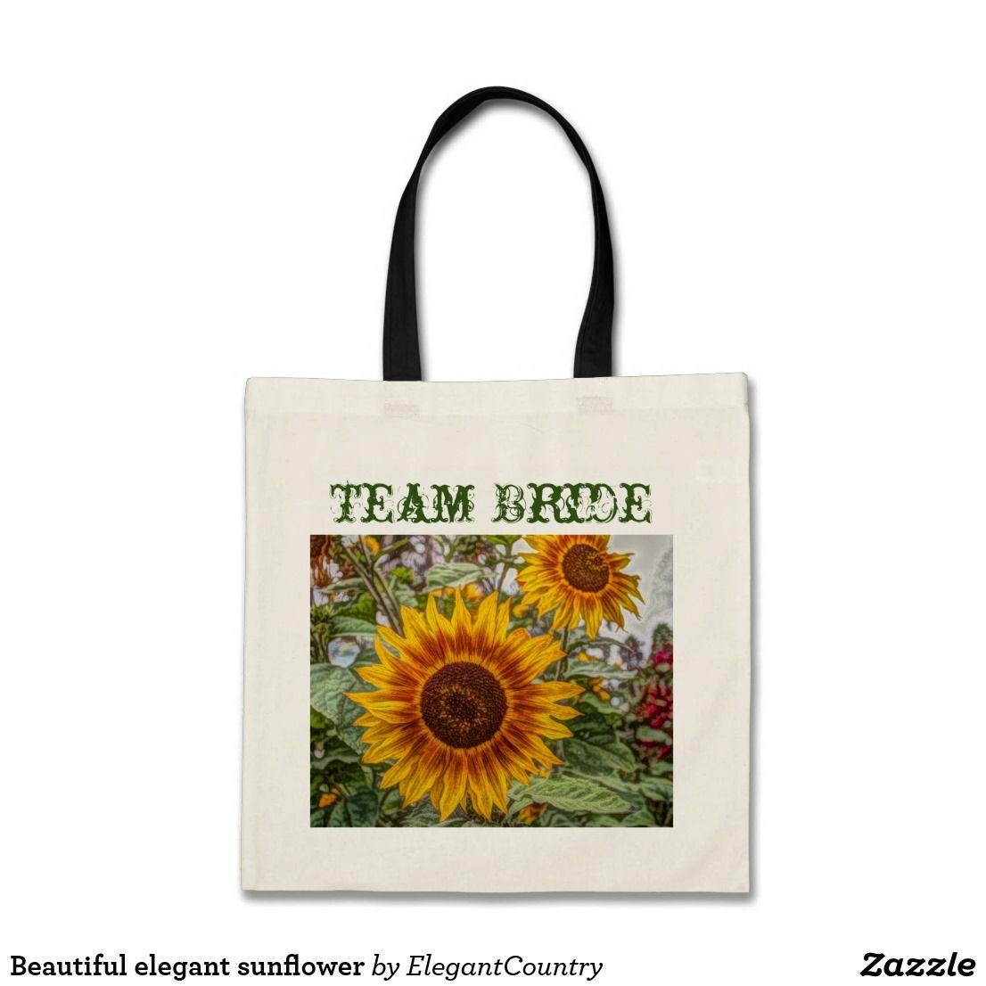 Beautiful elegant sunflower tote bag