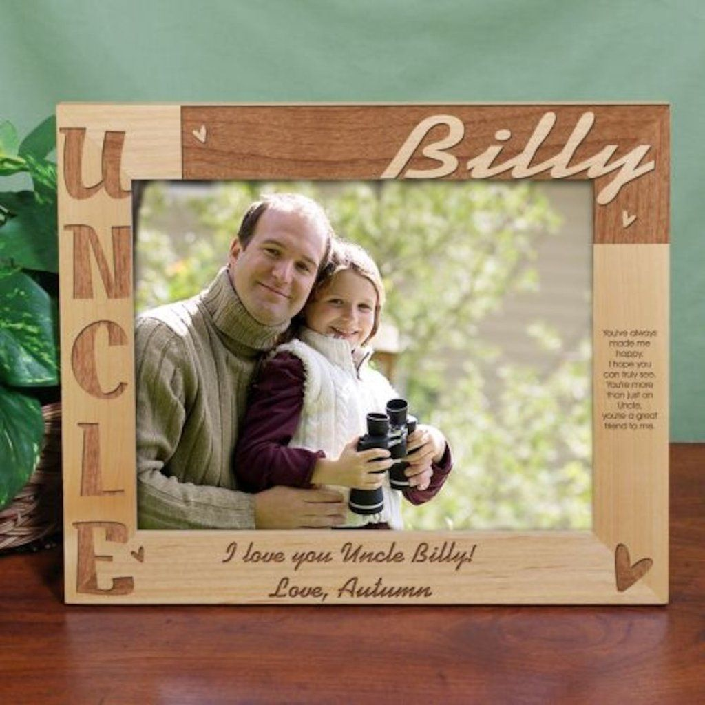 Personalized Uncle Photo Frame - 8x10 - Gifts Happen Here | Aunt ...