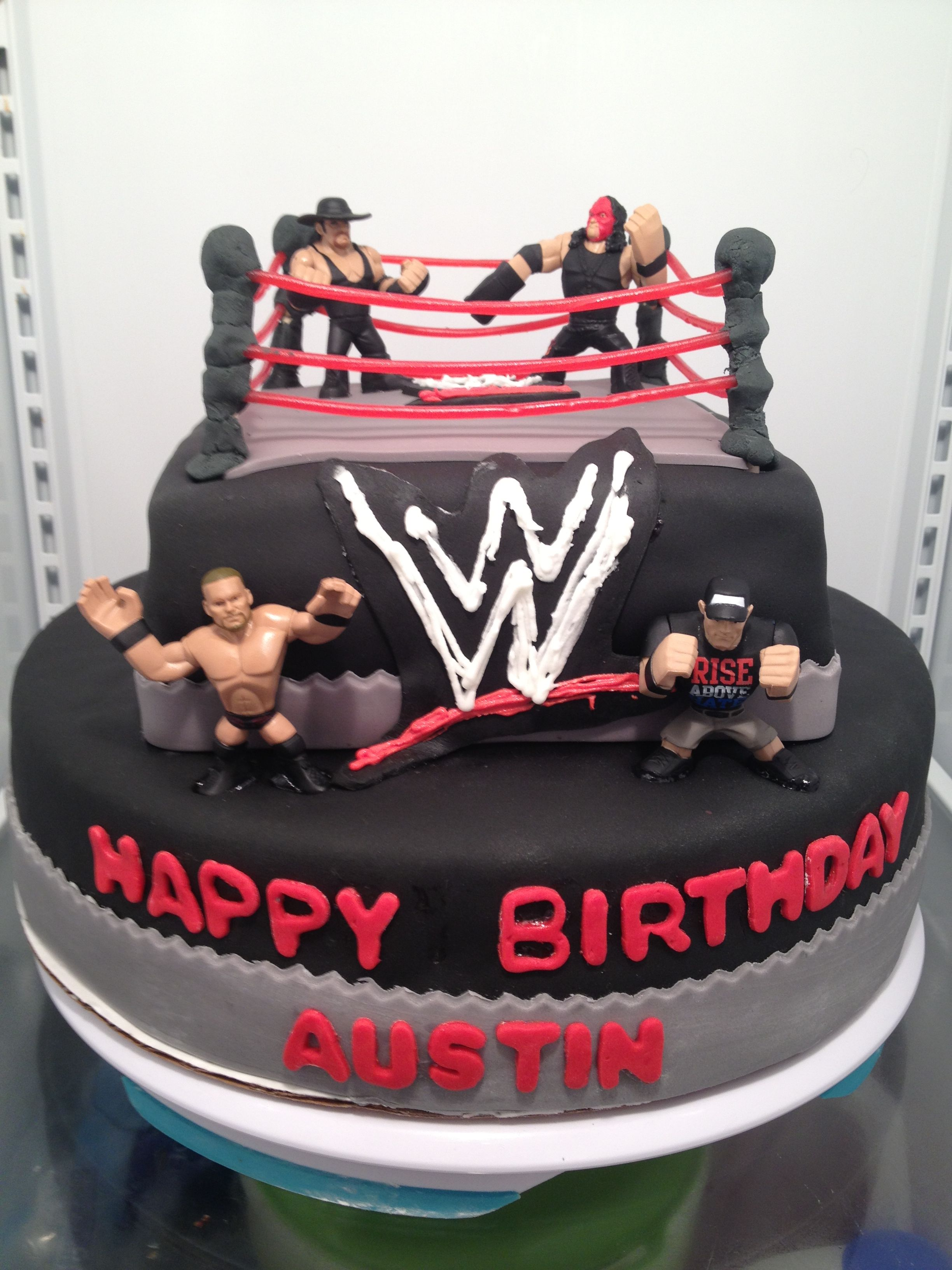 Pin by cheri davis on my cakes and cupcakes wwe birthday