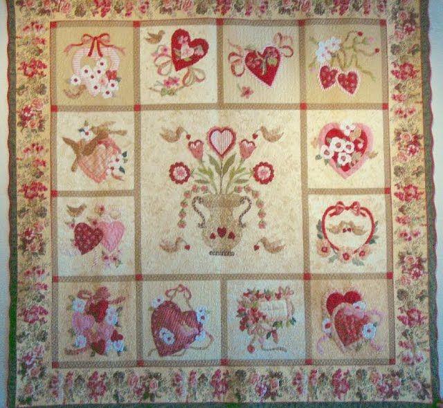 Vintage Valentine, designed by Verna Mosquera - a 72x72 ...
