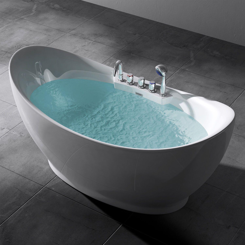 Details zu Design Freistehende Badewanne Acrylwanne ...