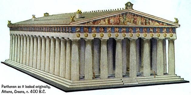 51 How The Parthenon In Athens Greece Originally Looked 432 B It Began Construction 448