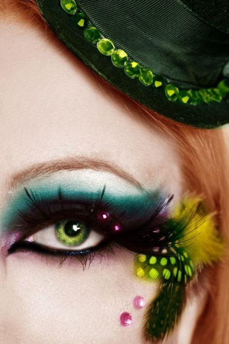 Gorgeous eye makeup.