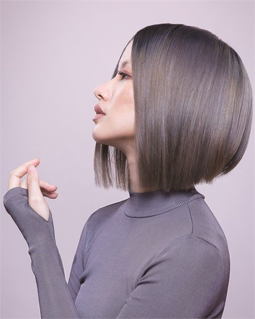 Dimensional Ash Blue And Violet Color From Aveda Aveda Hair Color Hair Styles Aveda Hair