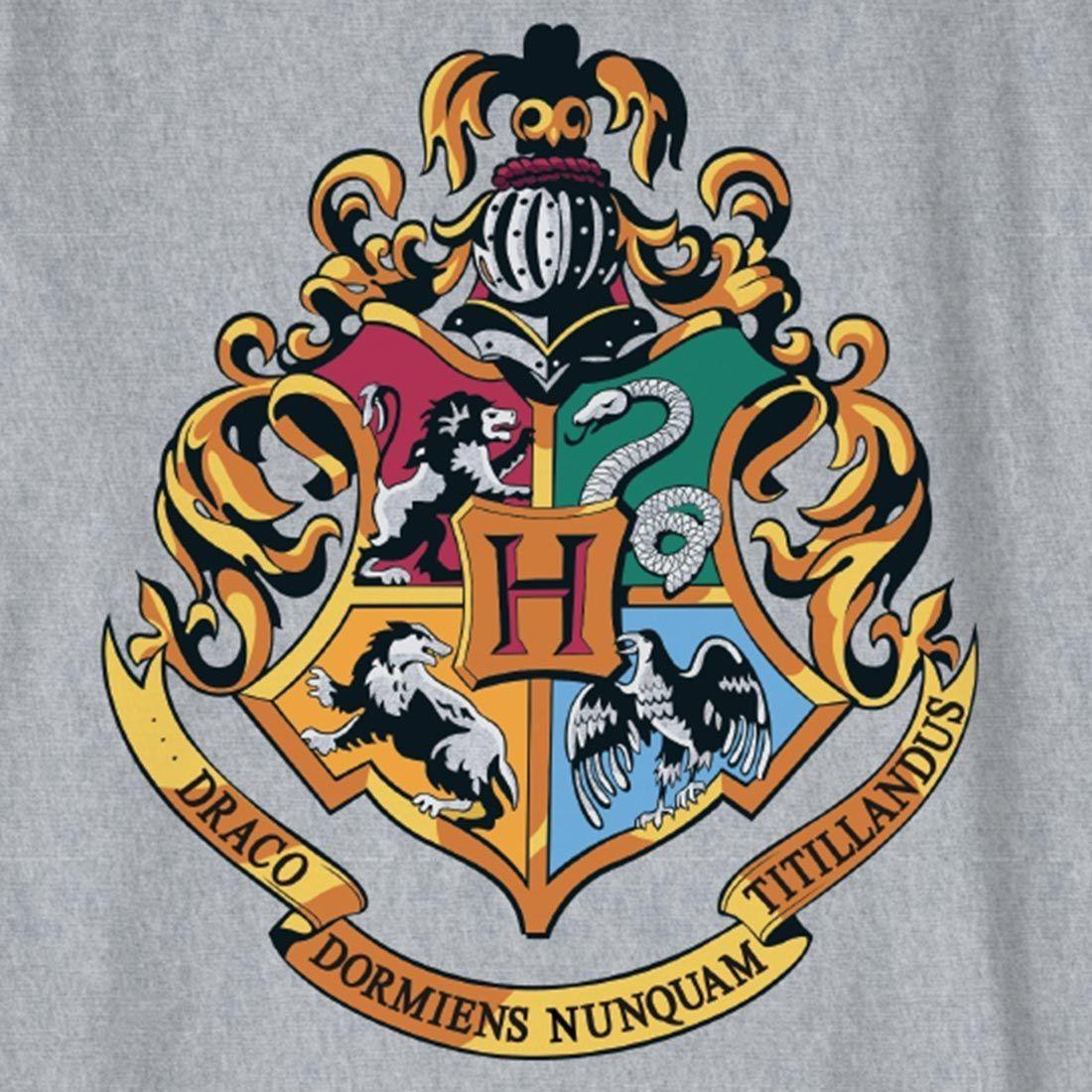 T-shirt Enfant blason Poudlard gris-chiné - 12 ans - Harry ...