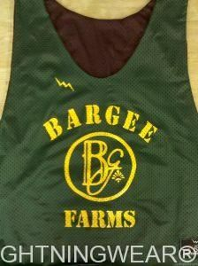 awesome Bargee Farms Pinnies -  Pittsburgh Pennsylvania Pinnies - Bargee Farms Reversible Jerseys