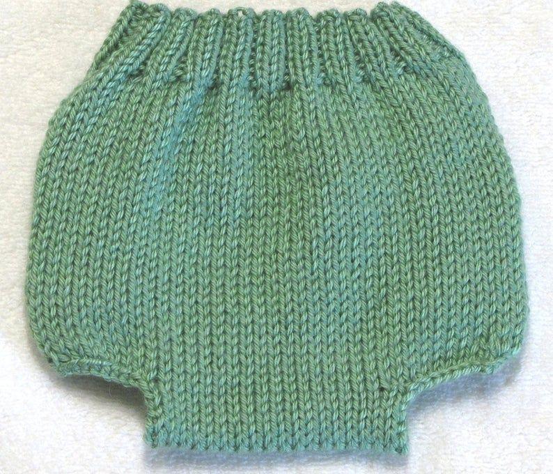 Diaper Cover Knitting Pattern - PDF - Medium - 3 to 6 ...