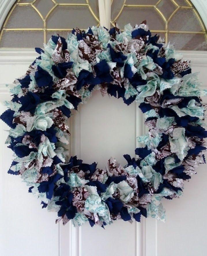 DIY Fabric Wreath Eat. Play. Love. Fabric wreath, Diy