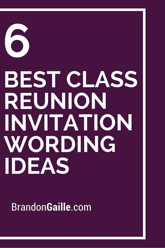 6 Best Class Reunion Invitation Wording Ideas Birthday Message 21st Invitations Sweet