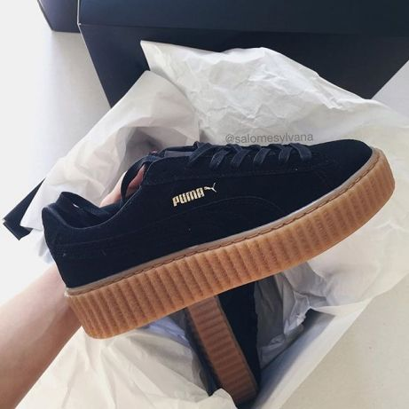 88f0b00b4cd Puma fenty creeper by Rihanna black sneakers Ikeja • olx.com.ng ...
