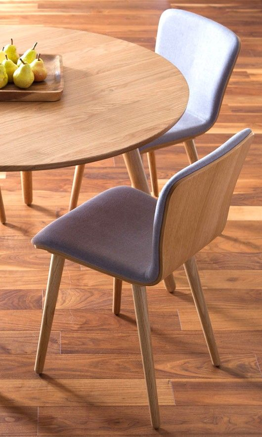 Lovely 2 X Gray Dining Chair In Oak Wood Upholstered | Article Sede Modern  Furniture Nice Look