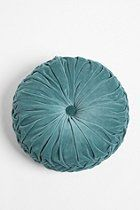 I want one in every color...  Round Velvet Pintuck Pillow  #UrbanOutfitters