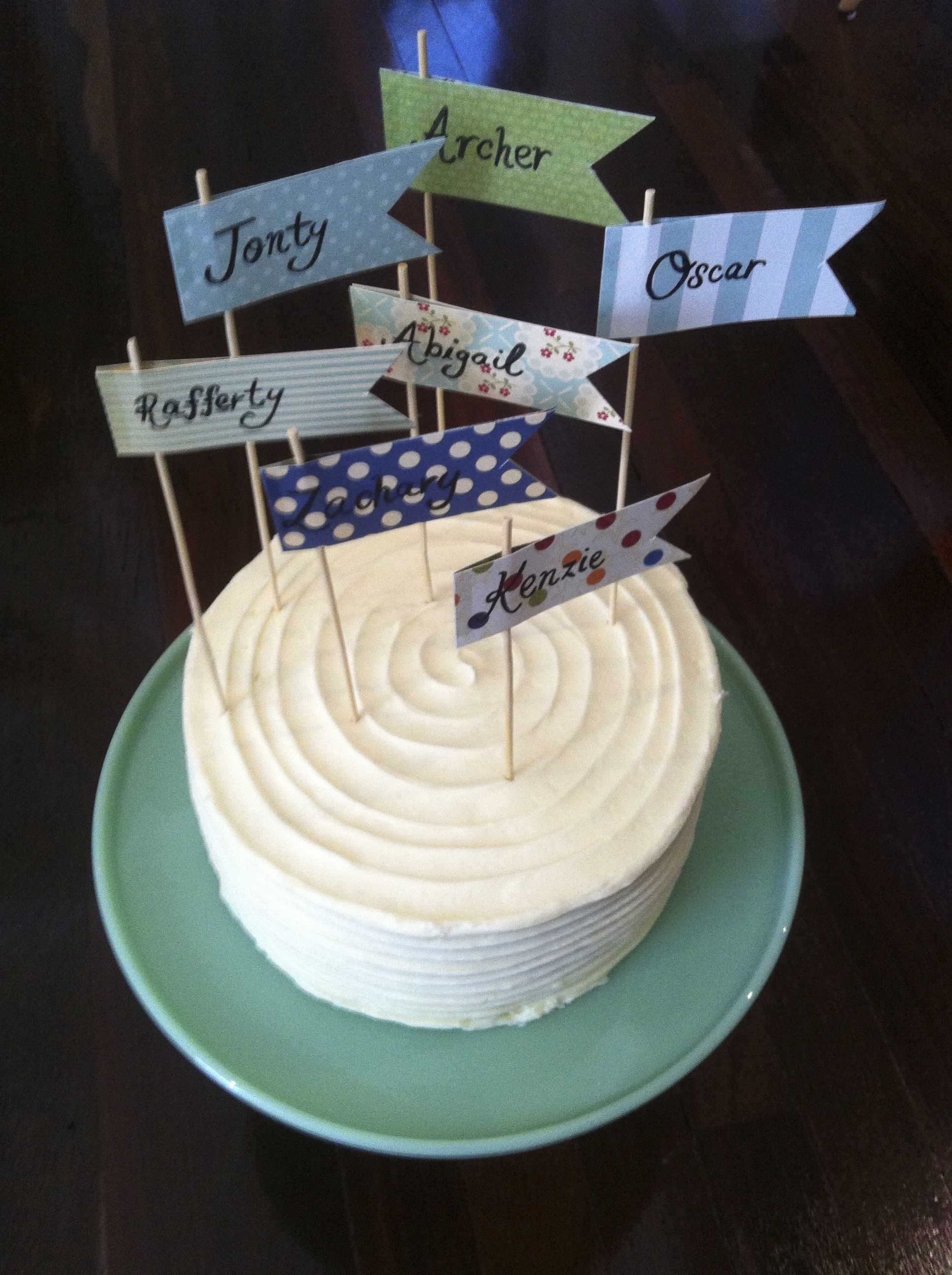 Joint First Birthday Cake