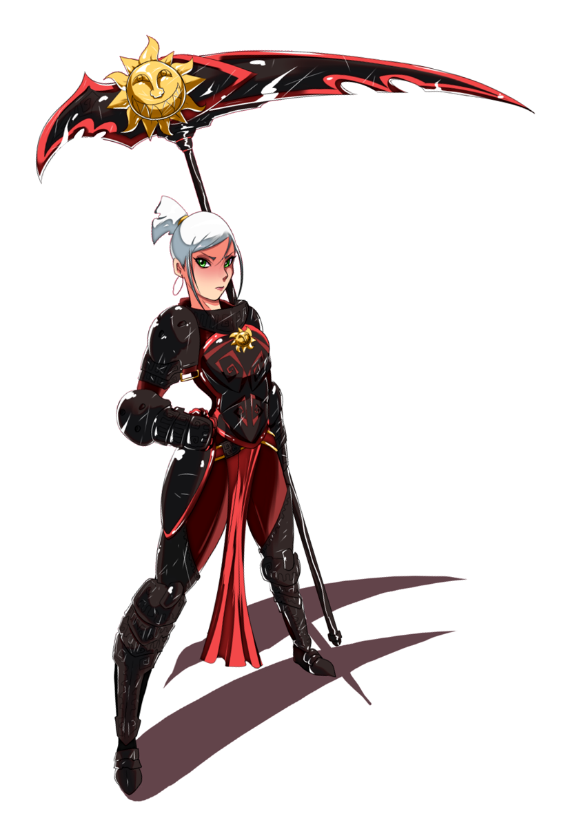Female Scythe Weapon Master Pathfinder PFRPG DND D&D d20