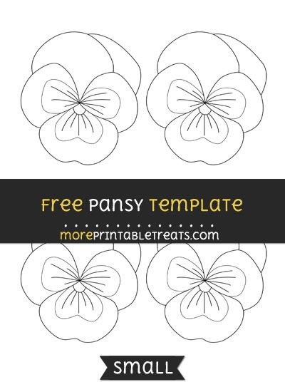 Free Pansy Template - Small #feltflowertemplate
