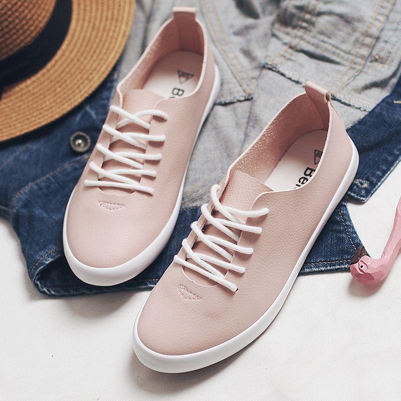 Women Pink Sneakers Female