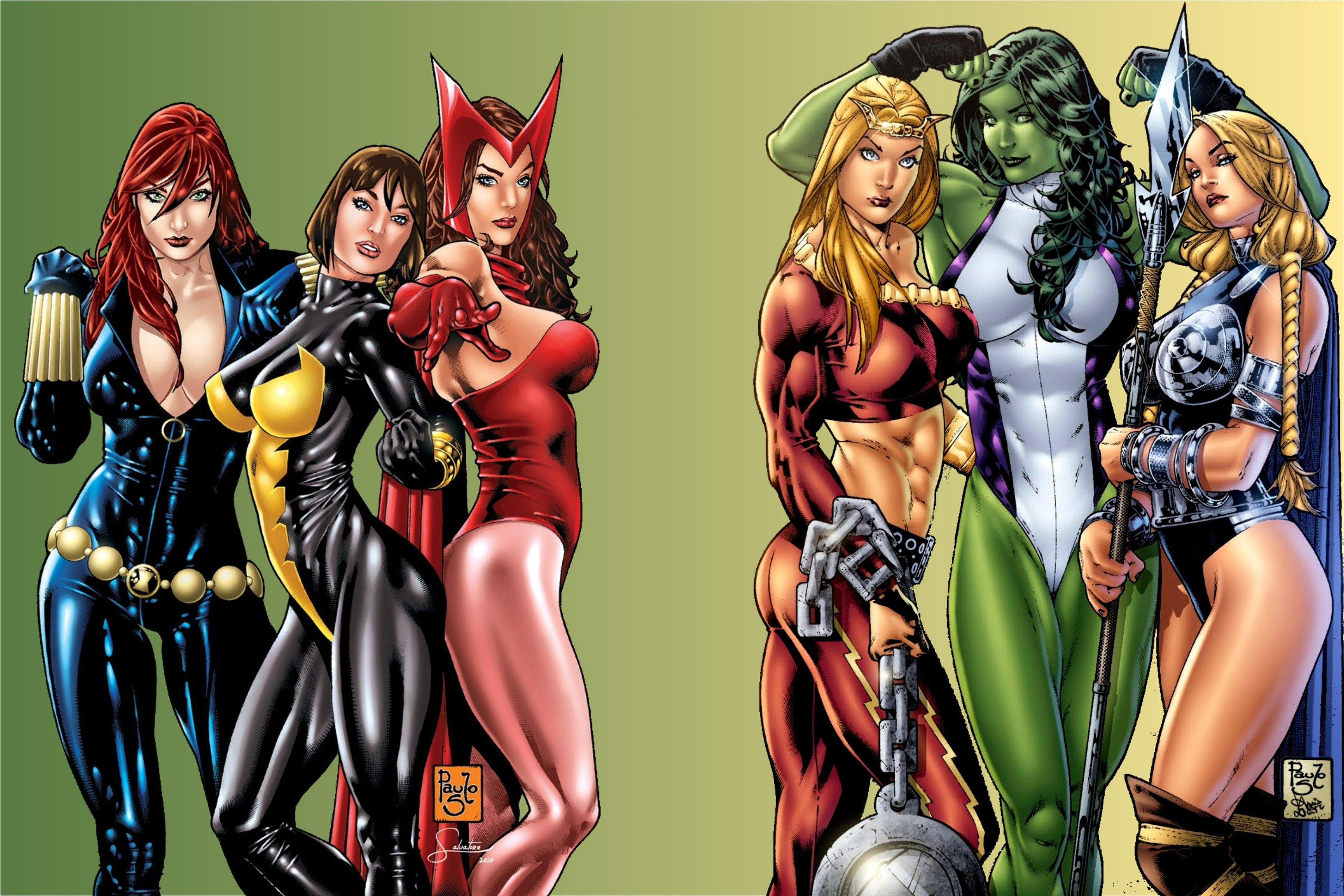 Sexy marvel women heroes