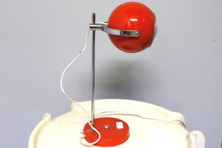 Lampe boule orange année 70 Luminaires Vintage Pinterest