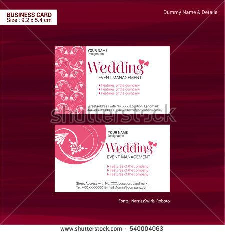 Business Cards For Event Management Company In Vector Format Event Management Company Event Management Event Planning Brochure