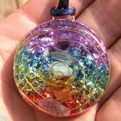 7 chakras orgone crystal healing pendant resin pinterest 7 chakras orgone crystal healing pendant aloadofball Gallery