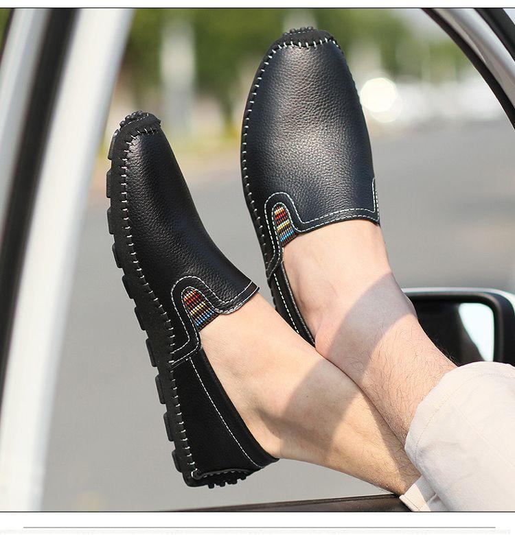 Size Flat Men Shoes Loafers Slip