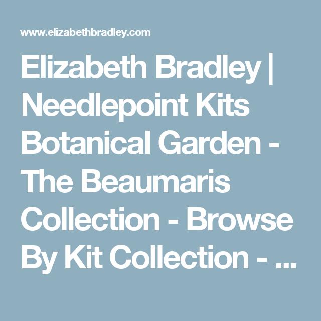 Elizabeth Bradley   Needlepoint Kits Botanical Garden - The Beaumaris Collection - Browse By Kit Collection - Shop (UK/International)