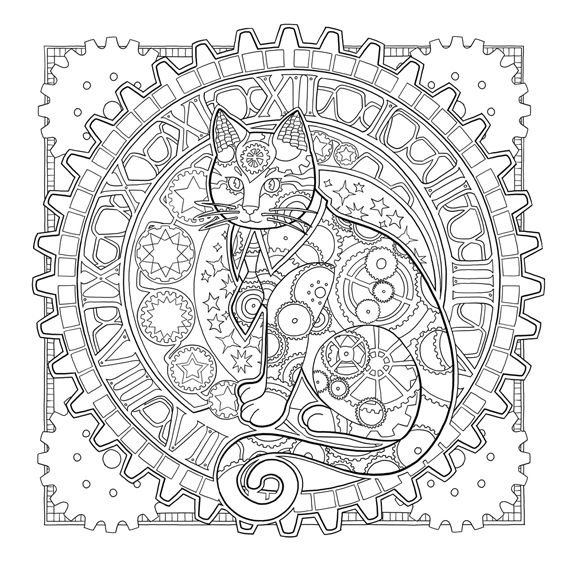 Mystical Cats In Secret Places : A Cat Lover's Coloring