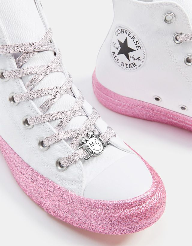 66851213ce5 Converse X Miley Cyrus fabric high-top sneakers - Bershka  conversexmiley   converse  mileycyrus  miley  chucktaylor  fashion  product  young  trend…