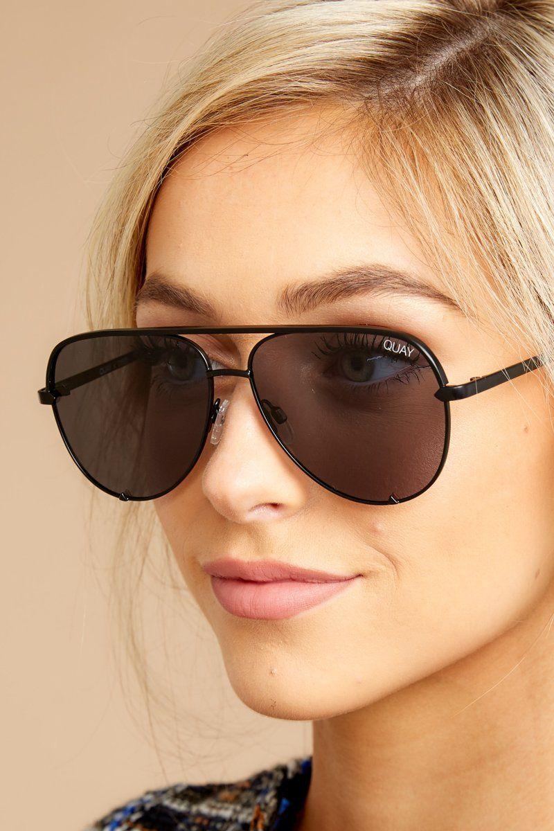 1ab8e5270a83b Mini Black Smoke Sunglasses - Black Smoke Sunglasses - Quay -  65 – Red  Dress Boutique