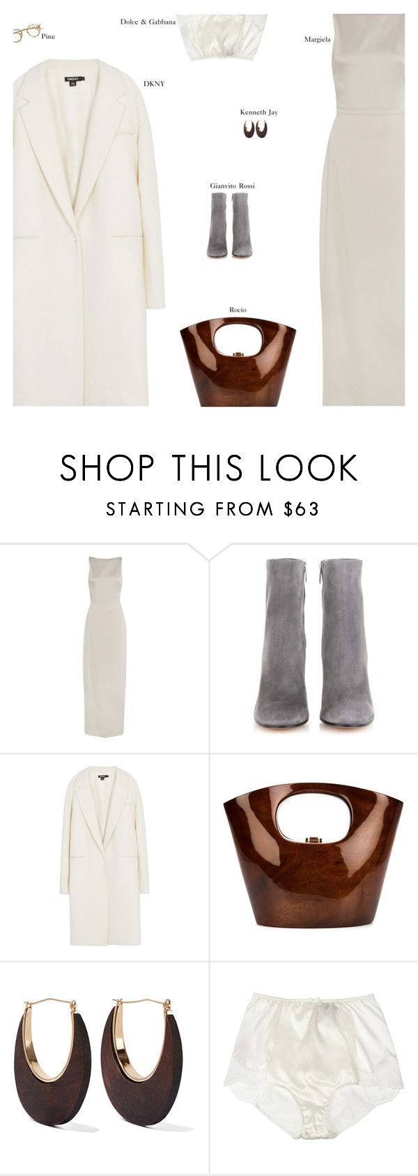 """Untitled #2538"" by amberelb ❤ liked on Polyvore featuring Maison Margiela, Gianvito Rossi, DKNY, Rocio, Kenneth Jay Lane and Dolce&Gabbana"